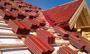 Крыша из красной металлочерепицы в Джанкое