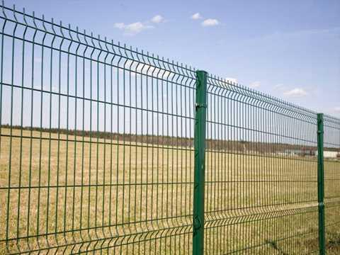 3D забор из евросетки (зелёный) для ограждения участка в Севастополе
