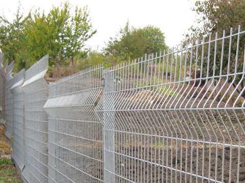 3Д забор из евросетки с оцинкованным покрытием (серый). Купить в Симферополе (Крым) предлагает Рич Cтоун