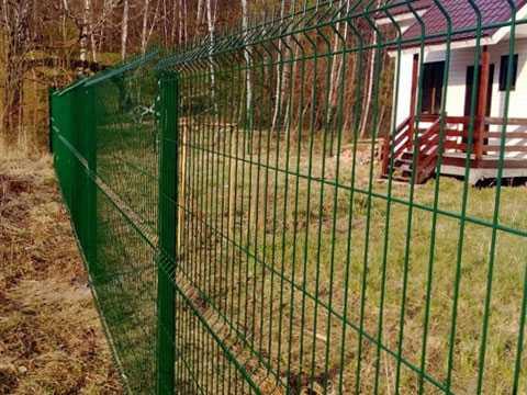 Зелёный 3D забор для ограждения дома в Ялте
