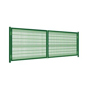 Ворота распашные 3-Д забора высотой 1.5 м