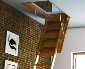 деревянная чердачная лестница