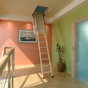 чердачные лестницы подходят под любой интерьер