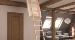 лестница на чердак, установленная в Судаке