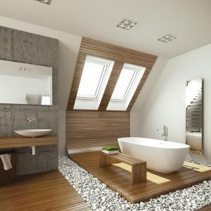 мансардные окна в ванной комнате