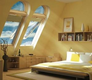 мансардные окна в интерьере дома