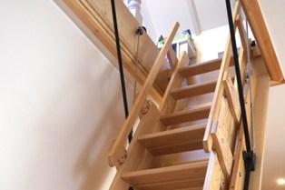 деревянная выдвижная лестница