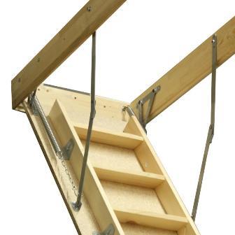 выдвижная лестница из дерева