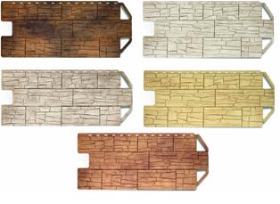 """разновидности фасадных панелей """"под камень"""""""