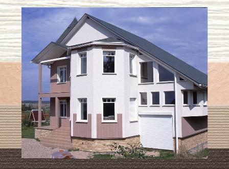 дом с отделкой фасадными панелями в Раздольном