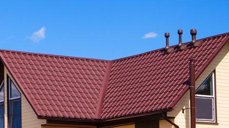 металлочерепица на крыше дома в Раздольном
