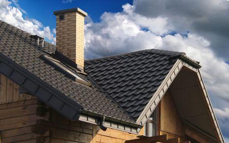 металлочерепица на крыше дома в Черноморском