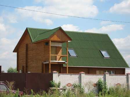 ондулин на крыше дома в Красногвардейском