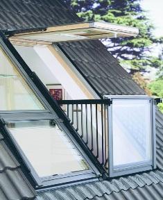 мансардные окна Velux с выходом на балкон