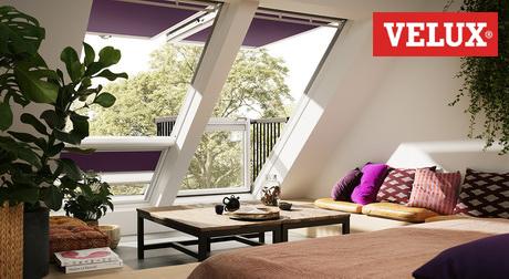 Окна для мансарды Velux в интерьере чердака