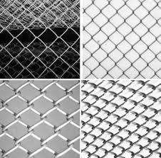 Сетки-рабицы с разными размерами ячеек