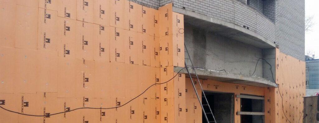 Утепление фасадов пеноплексом