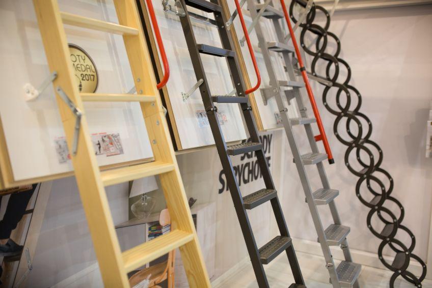 несколько видов чердачных лестниц